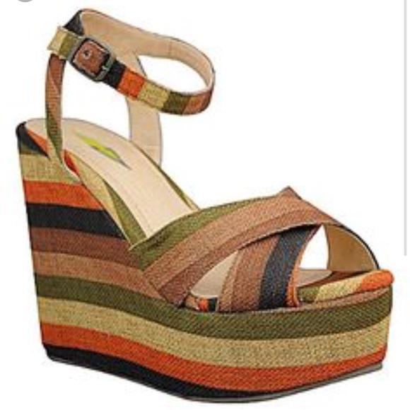e3981d11a7697 Very Volatile Shoes | Striped Wedge Sandal | Poshmark